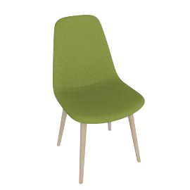 Retro Slide Dining Chair, Green