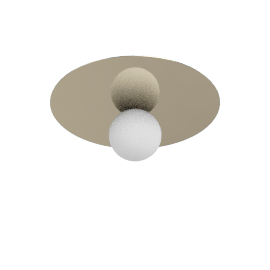 Bola Ceiling Lamp 18'', Brass