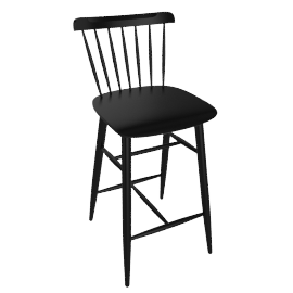 Salt Counter Stool, Black