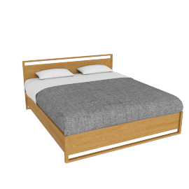 Matera Bed - King - Oak